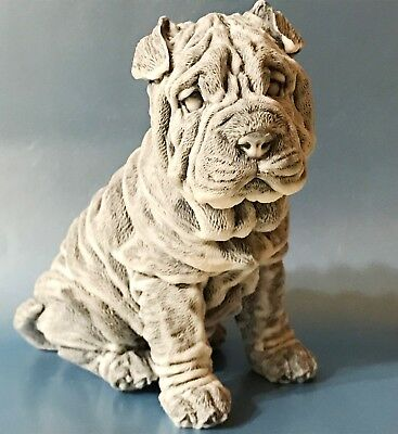 Shar Pei figurine marble chips Dog Souvenirs from Russia Statues high quality