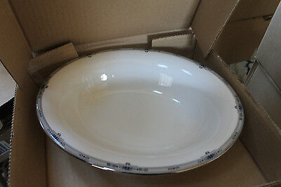 Wedgwood Amherst Bone China Oval Serving Bowl 9 3/4 OPEN Vegetable New 9.75 25CM
