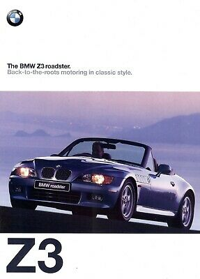 "B.M.W. ""Z3"" Roadster - 2.8 / 1.9 - 1997 - British sales brochure, catalogue"