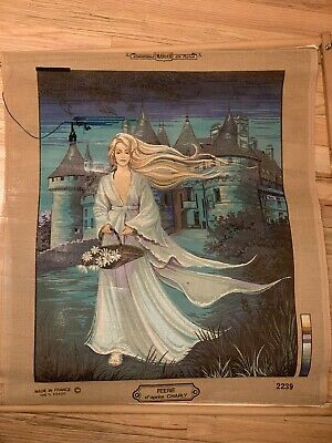 """MARGOT Paris """"Feerie d'apres CHARLY"""" Fairy Cross Stitch CANVAS ONLY"""
