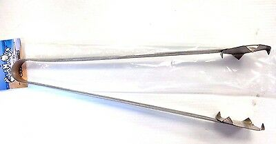 """Clam Out Stainless Steel Crab Tongs 18"""" - Crab Seafood Tongs / Grabbers - NEW"""