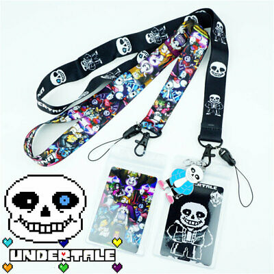 Game Undertale Sans Papyrus Lanyard Neck Strap Charms Cell Phone Rope Keychain N