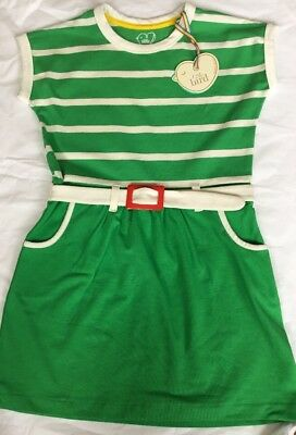 Little Bird By Jools Oliver Green Retro Jersey Dress 9-12 Months 🌈🍄bnwt 🍄🌈
