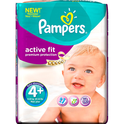 Pampers Active Fit Premium Protection 4+ 36 Nappies Pack