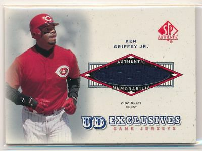KEN GRIFFEY JR 2001 SP Authentic UD Exclusives JERSEY RELIC CINCINNATI REDS HOF