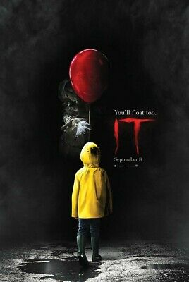 It Poster Movie Stephen King Remake Red Balloon You'll Float Too