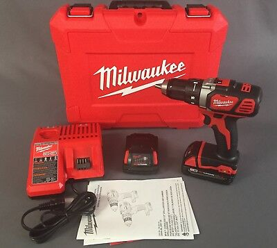 """NEW Milwaukee M18 18V 1/2"""" Cordless Drill Driver Compact Kit 2606-22CT"""