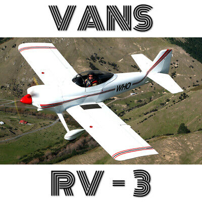 Vans Rv-3 - Paper Plans+Information Pack For Homebuild High Perfomance Aircraft!