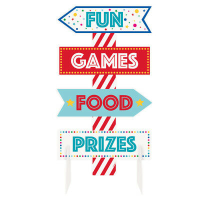 Circus Carnival Party Sign Centerpiece Table Decoration Games Prizes Birthday