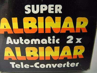 Super Albinar Auto Tele Converter 2X For Pentax Screw Mount  With Case