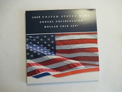 2008 US Mint Annual Uncirculated Set, 6 coins, W SAE + 5 dollars