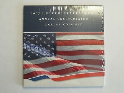 2007 US Mint Annual Uncirculated Set, 6 coins, W SAE + 5 dollars, unopened