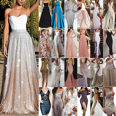 Women's Formal Ball Gown Prom Evening Cocktail Party Wedding Bridesmaid Dresses