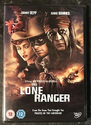 The Lone Ranger Disney Dvd (Johnny Depp-Armie Hammer) New & Sealed Free Post