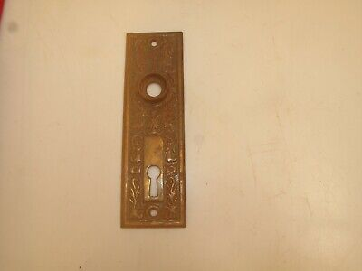 Vtg Antique Eastlake Door Knob Back Plate 1800'S Victorian Brass Plate 5 1/2""
