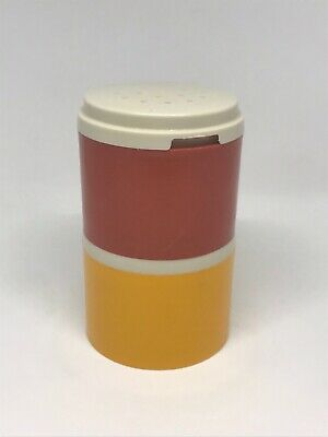 X2 Vintage Tupperware Stacking Containers, Orange And Yellow, Spice,Salt, Pepper