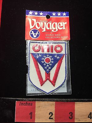 Vintage In Package State Of Ohio Flag Patch ~ Voyager Brand 60E6