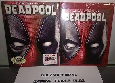 Deadpool (Blu-Ray + Dvd + Dig Hd) + Slip Cover + 8 Postcards + Red Case