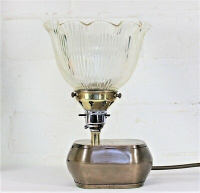 Vintage & Quirky Table Lamp Desk Lamp Made from a Bronze Dentists Denture Flask