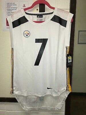 d8a48c31689 NWT Nike Pittsburgh Steelers #7 Ben Roethlisberger Womens S/ L Sleeveless  Jersey