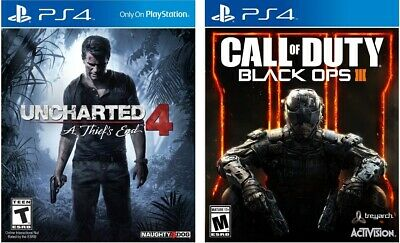 Uncharted 4: A Thief's End & Call Of Duty Black Ops 3 - PlayStation 4