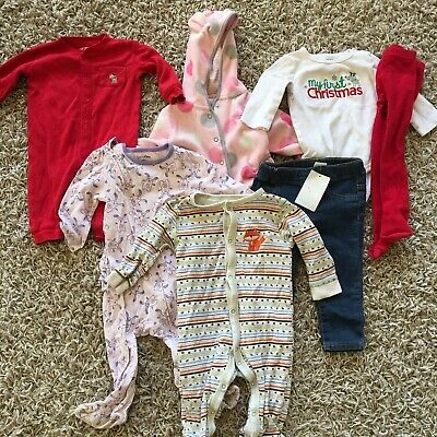 dabc93ec2 Lot 6-12 Months Baby Gap Carters Old More Fall Winter Christmas Girl Clothes