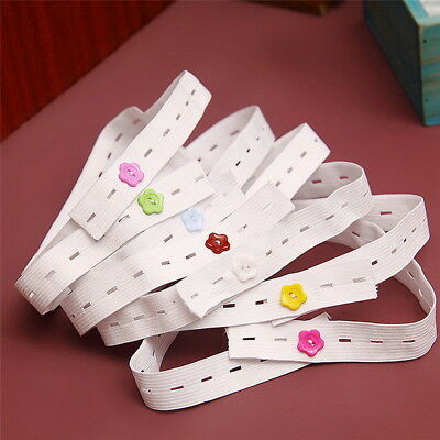 10x Infant Baby Elastic Adjustable Nappy Fasteners Diaper Fixed Belt Fixer