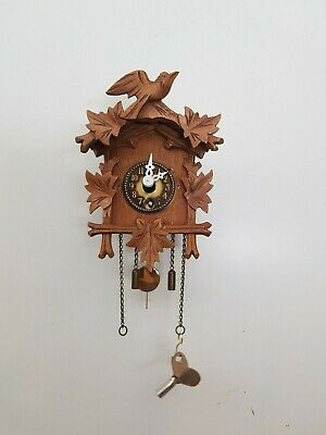 Vintage Black Forest Mini Cuckoo Clock, Novelty Clock, fully functional
