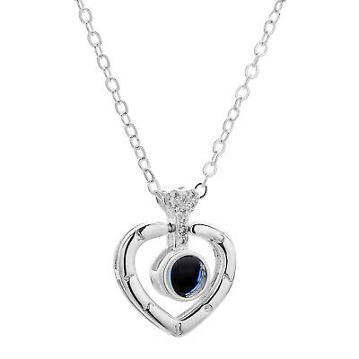 100 Languages Light Projection I Love You Heart Pendant Necklace Lover