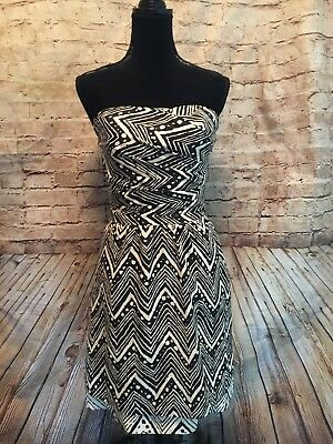 da4531cf The Limited Women's Black Cream Design Strapless Formal Dress Size 2