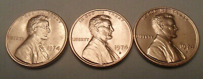1974 P D S Lincoln Cent / Penny Set   *AU OR BETTER*   *FREE SHIPPING*