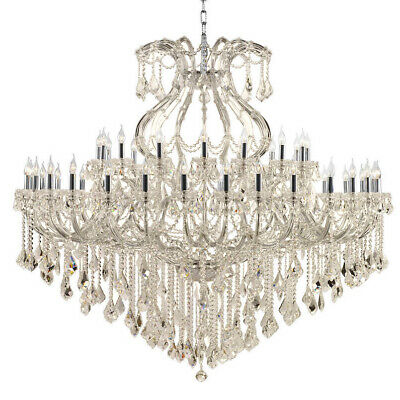 "Maria Theresa Chandelier, W72""x H60"", L49, Chrome Finish,Golden Teak Crystal"