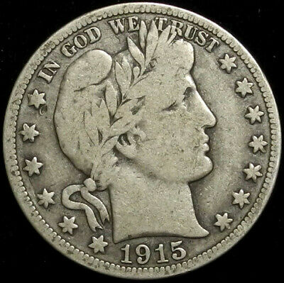1915 S Barber Silver Half Dollar 50C $ Nice Coin! San Francisco Mint