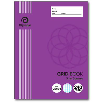 Olympic 5mm Grid Book 225 x 175mm 240 Page 140795