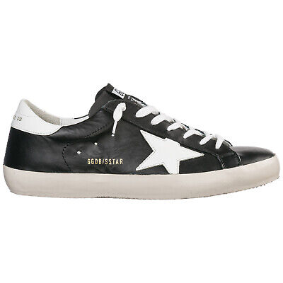 separation shoes 4ea05 18845 Golden Goose Men s Shoes Leather Trainers Sneakers New Superstar Black 168
