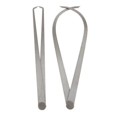 2 Pieces Foldable and Portable Caliper Set Iron Out and In Calipers 200mm