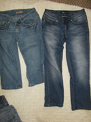 Size 1 Jeans Girls/Teens 2 Pairs  Ymi Teen Juniors Jeans One Cropped