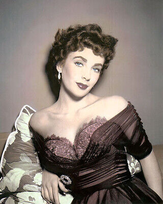 """ELIZABETH TAYLOR THE GIRL WHO HAD EVERYTHING 1953 8x10"""" HAND COLOR TINTED PHOTO"""