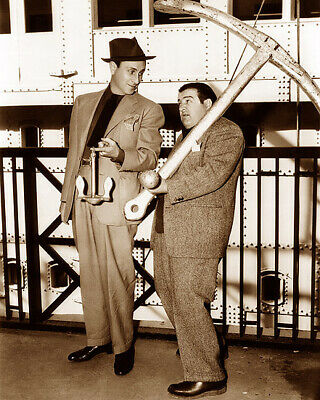 Bud Abbot Lou Costello In The Navy 1941 Actors Hollywood Movie Stars Sepia Photo
