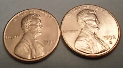 1992 P & D Lincoln Memorial Cent / Penny Set    **FREE SHIPPING**