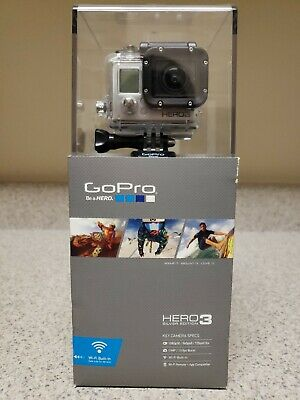 GoPro HERO3 Silver Edition Camcorder with 64 GB SD Card and GoPro Suction Cup