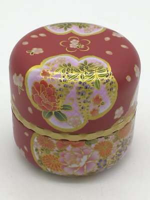 v1 Japanese Lacquer Tea CADDY Flower Container / Tea Container