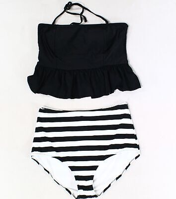 Alternative Goth Skulls Longer w// Tummy Control Trendy Tankini Top C-DD Cup Cool