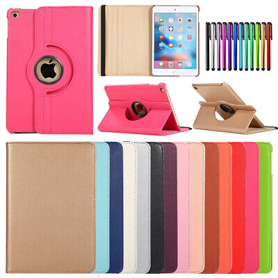 360 Rotating PU Leather Stand Flip Slim Case Cover For iPad Mini 4 5th Gen 2019