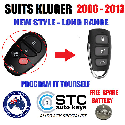 Suits Toyota Kluger Remote Fob 2006 2007 2008 2009 2010 2011 2012 2013