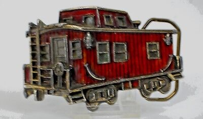 The Great American Buckle Co. Train Caboose 1979 Brass Belt Buckle-FREE SHIPPING