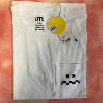 f0c8d6101 UNIQLO x PAC-MAN 80' The GAME by MAMCO MUSEUM GRAPHIC Tee White Pocket