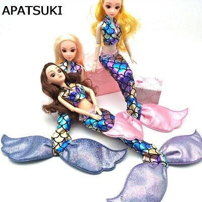 """Mermaid Clothes For 11.5"""" Doll Bra & Fishtail Skirt Dress For 1/6 Doll Cosplay"""