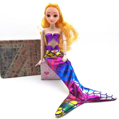 """Doll's Party Dress Mermaid Gown Bra & Skirt Fashion Clothes For 11.5"""" Doll Toy"""