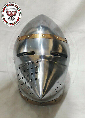 Medieval Knight Viking Wing Armor Helmet - pig face Winged Norman King Helmet
